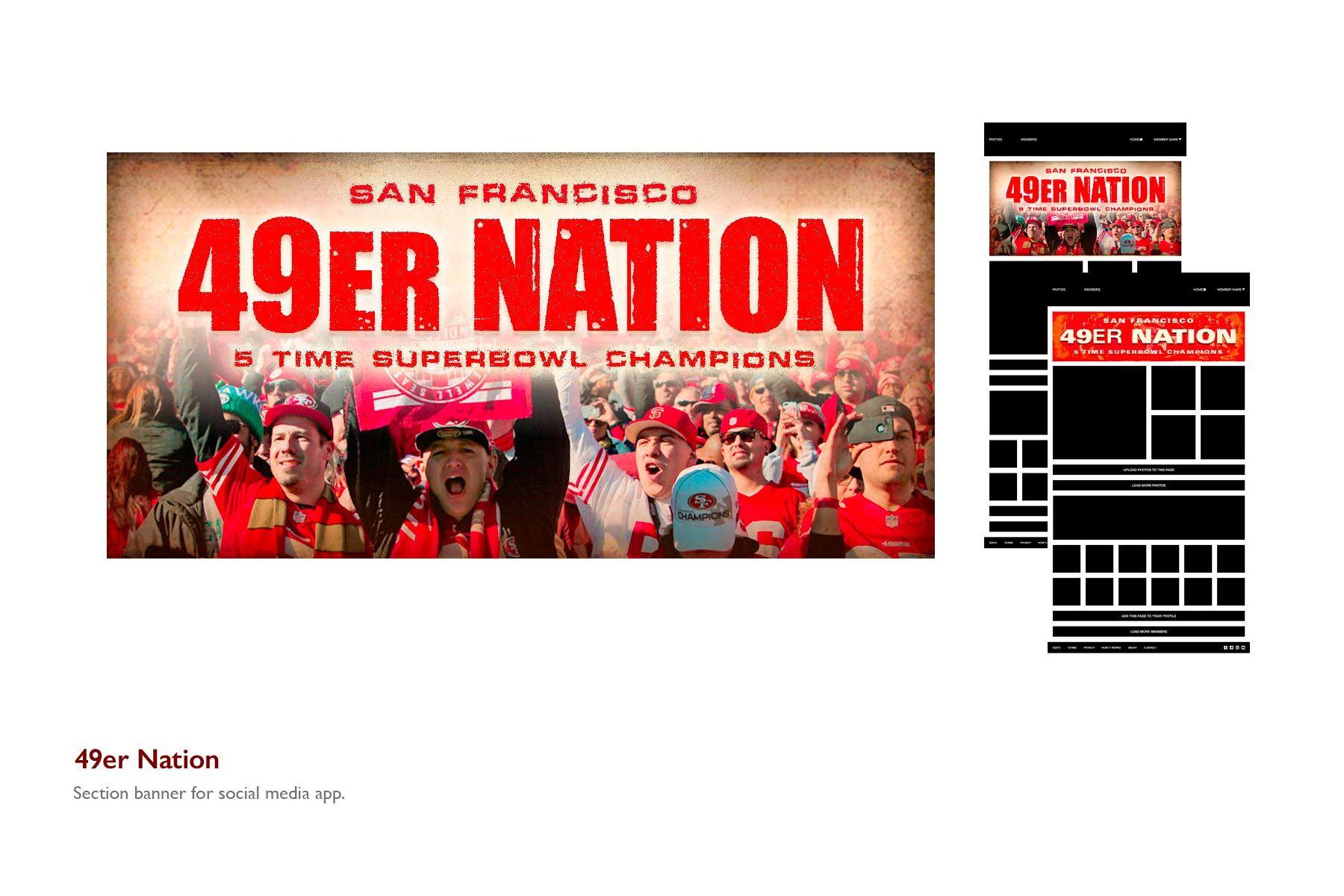 49er Nation Banner for Social Media App
