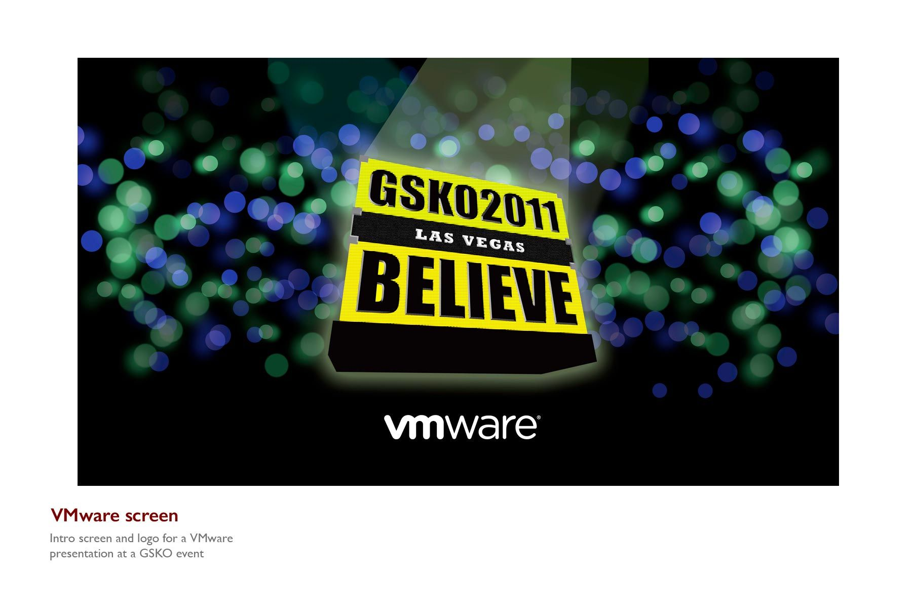 VMware Event Screen