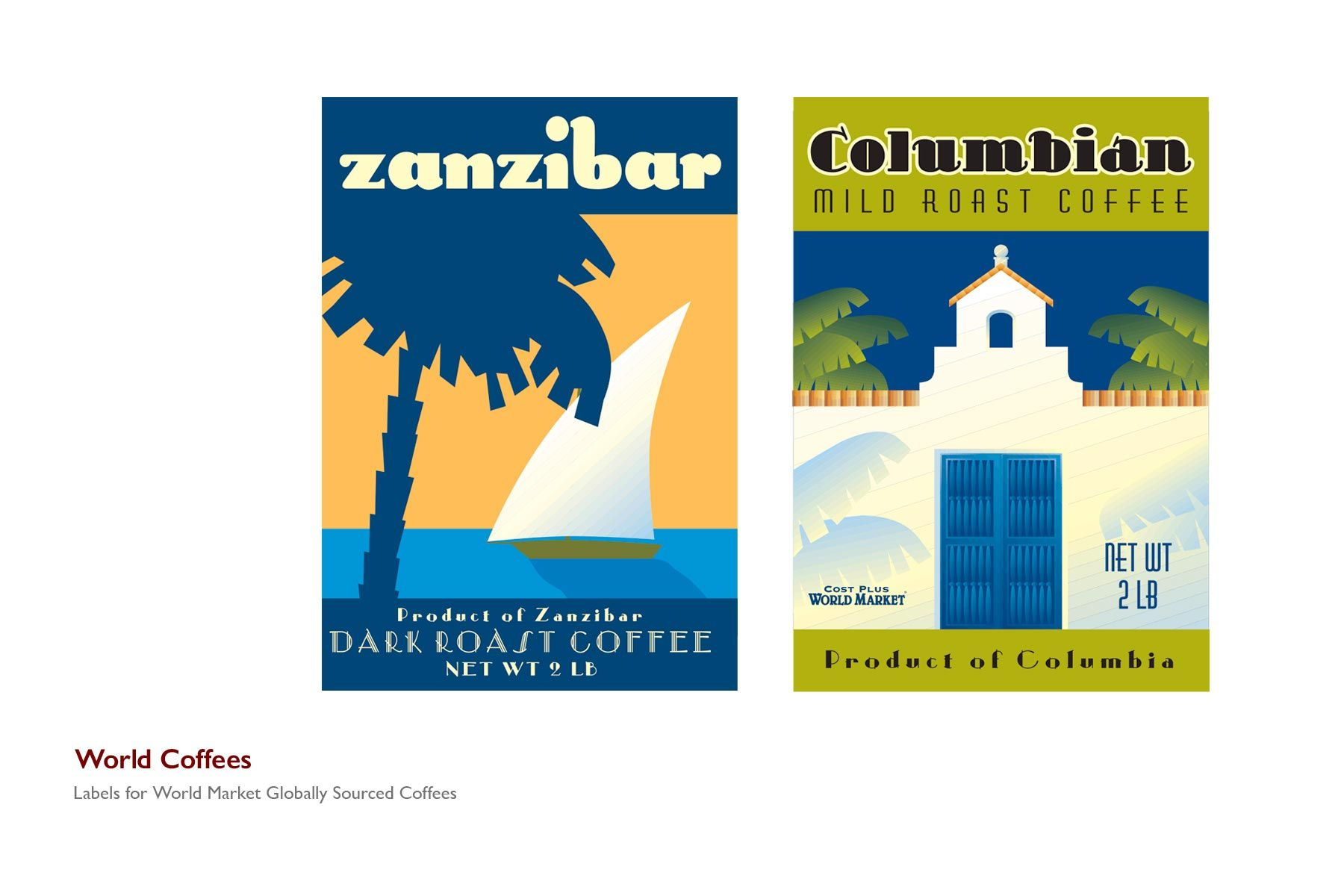 World Coffees Labels
