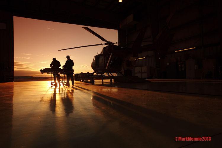 Sunrise at the hanger