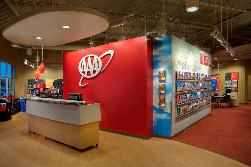 AAA retail travel office concept Hilliard Ohio