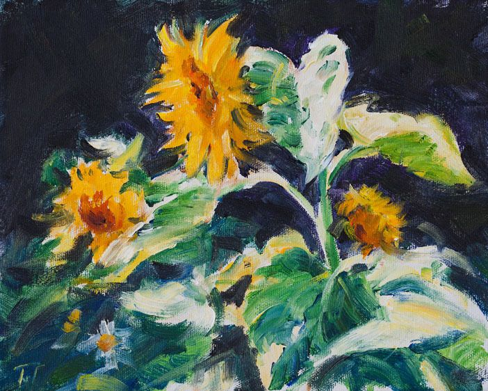 SUNFLOWERS    8x10