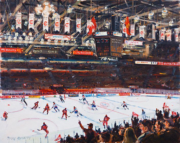 RUSSIA VS. CANADA  24 X 30