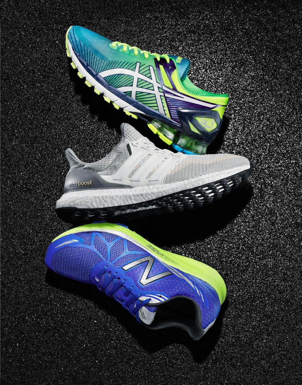 Running shoes editorial photography