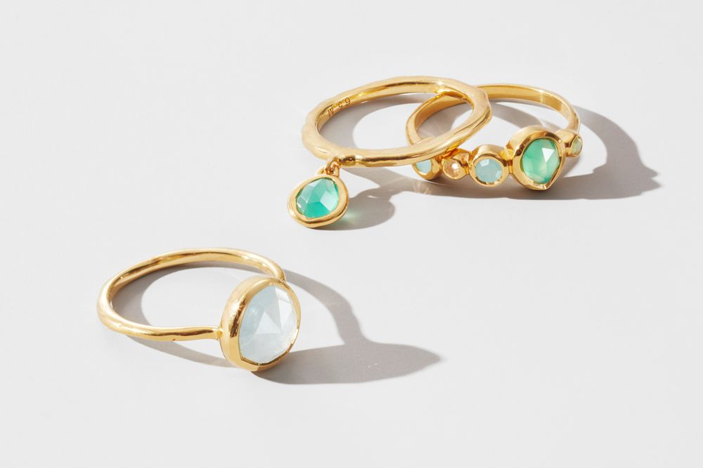 Moonstones and gold