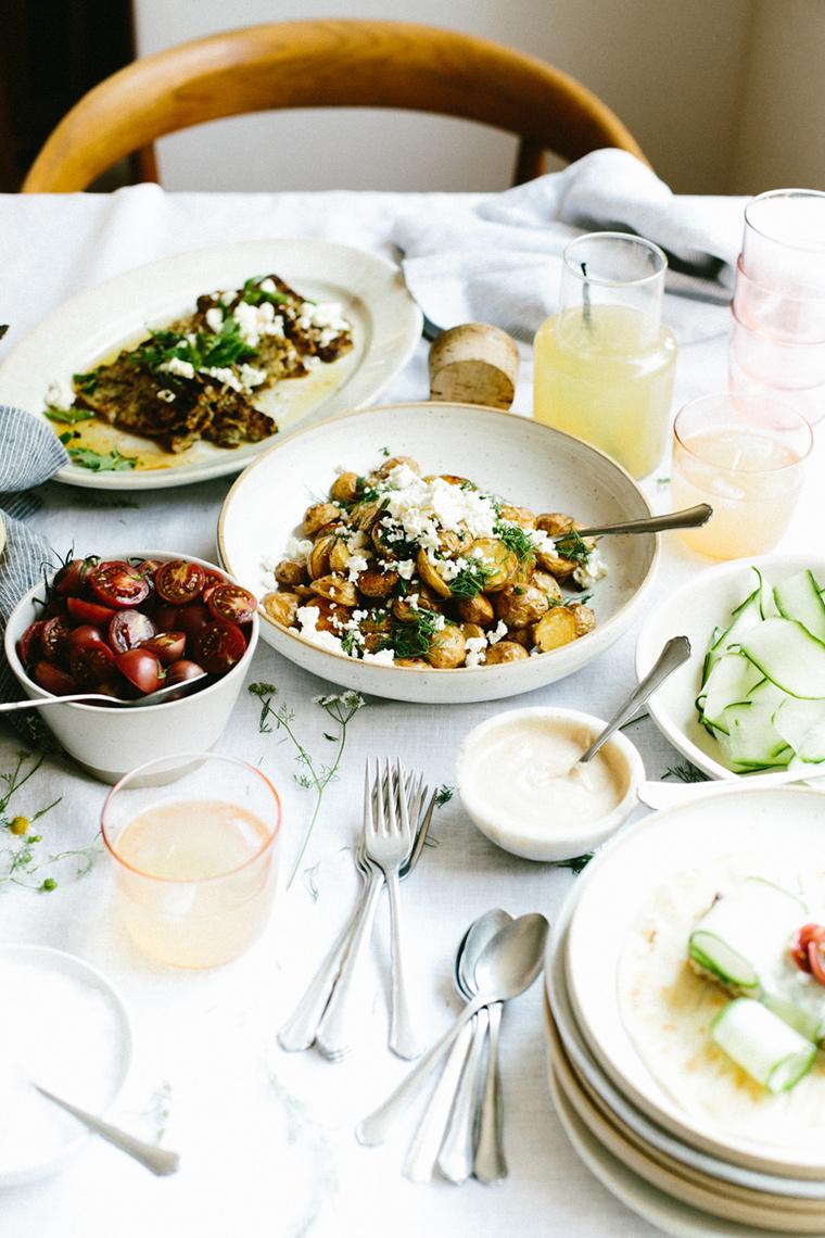 Lunch table arrangement