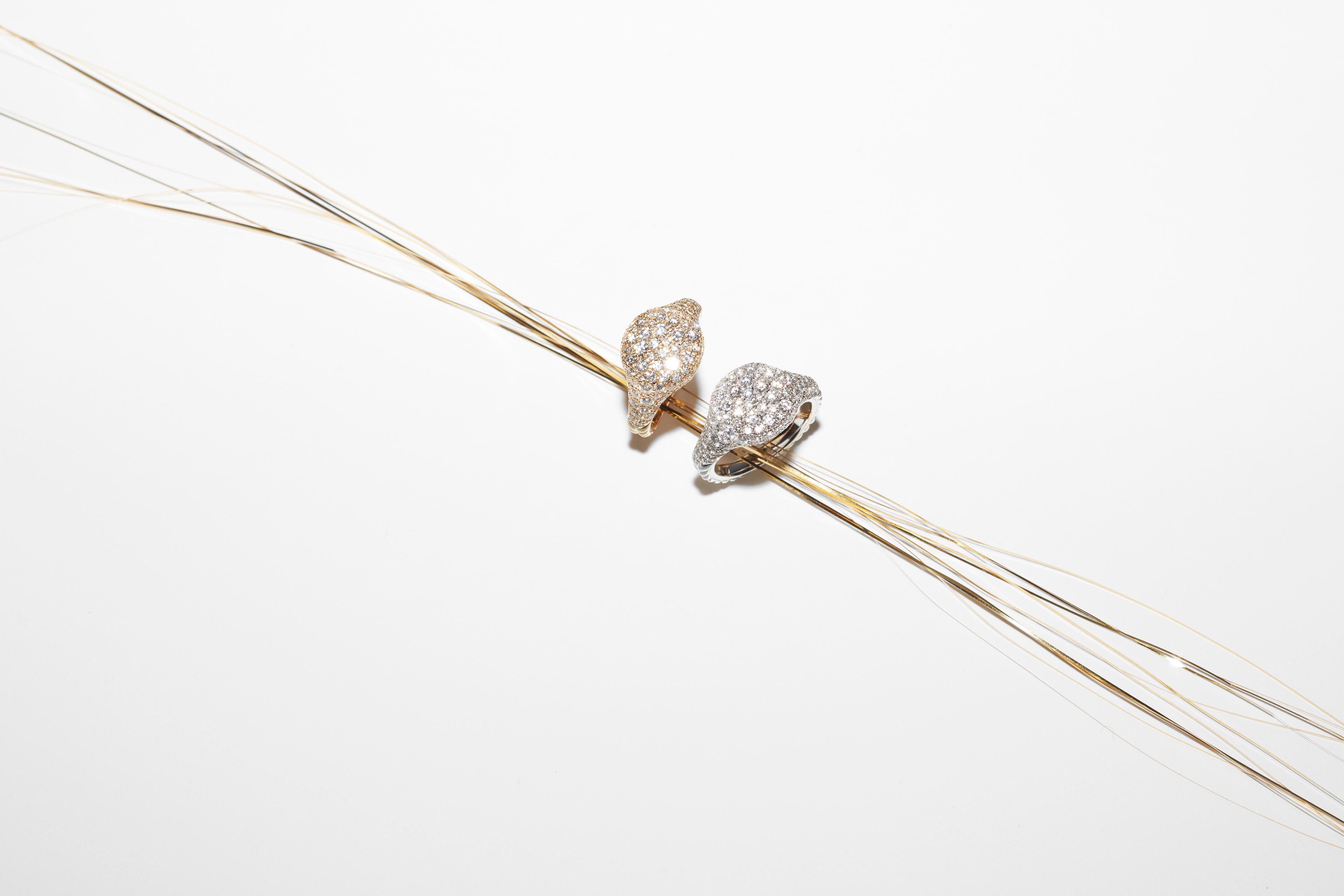 Diamond pave rings