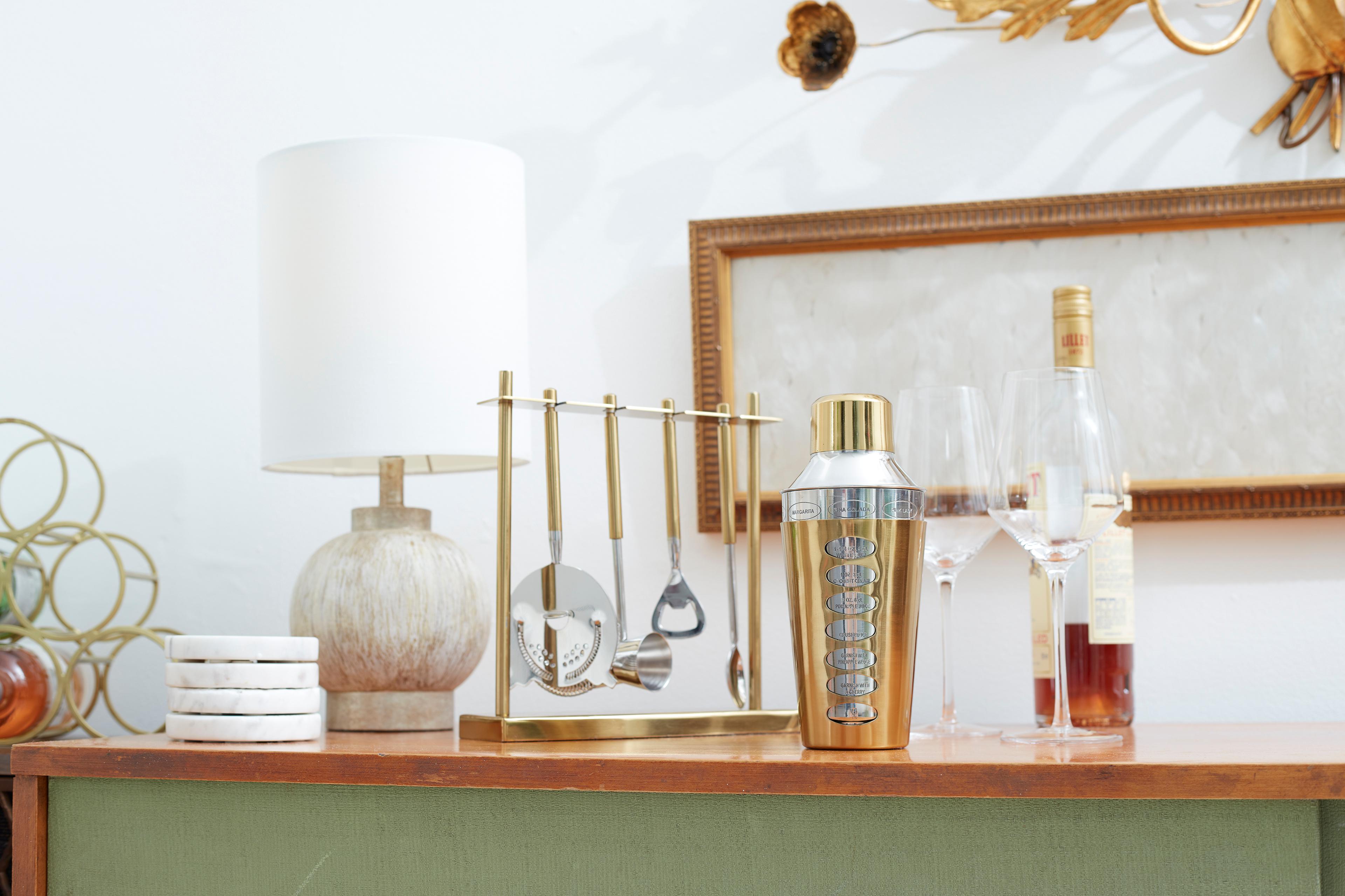 mid-century bar accessories