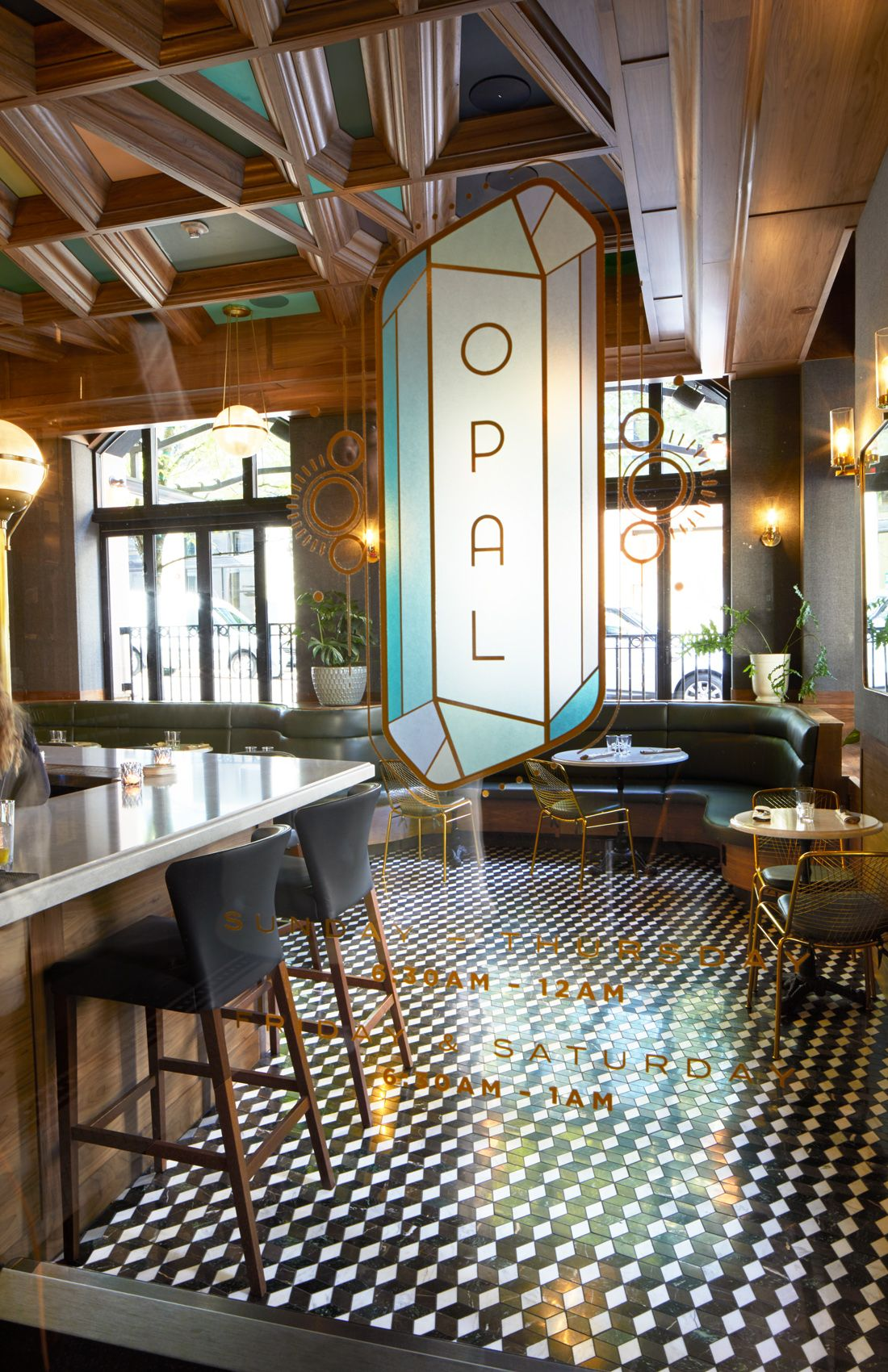Opal Restaurant Bar By Commercial Interior Photographer George Barberis
