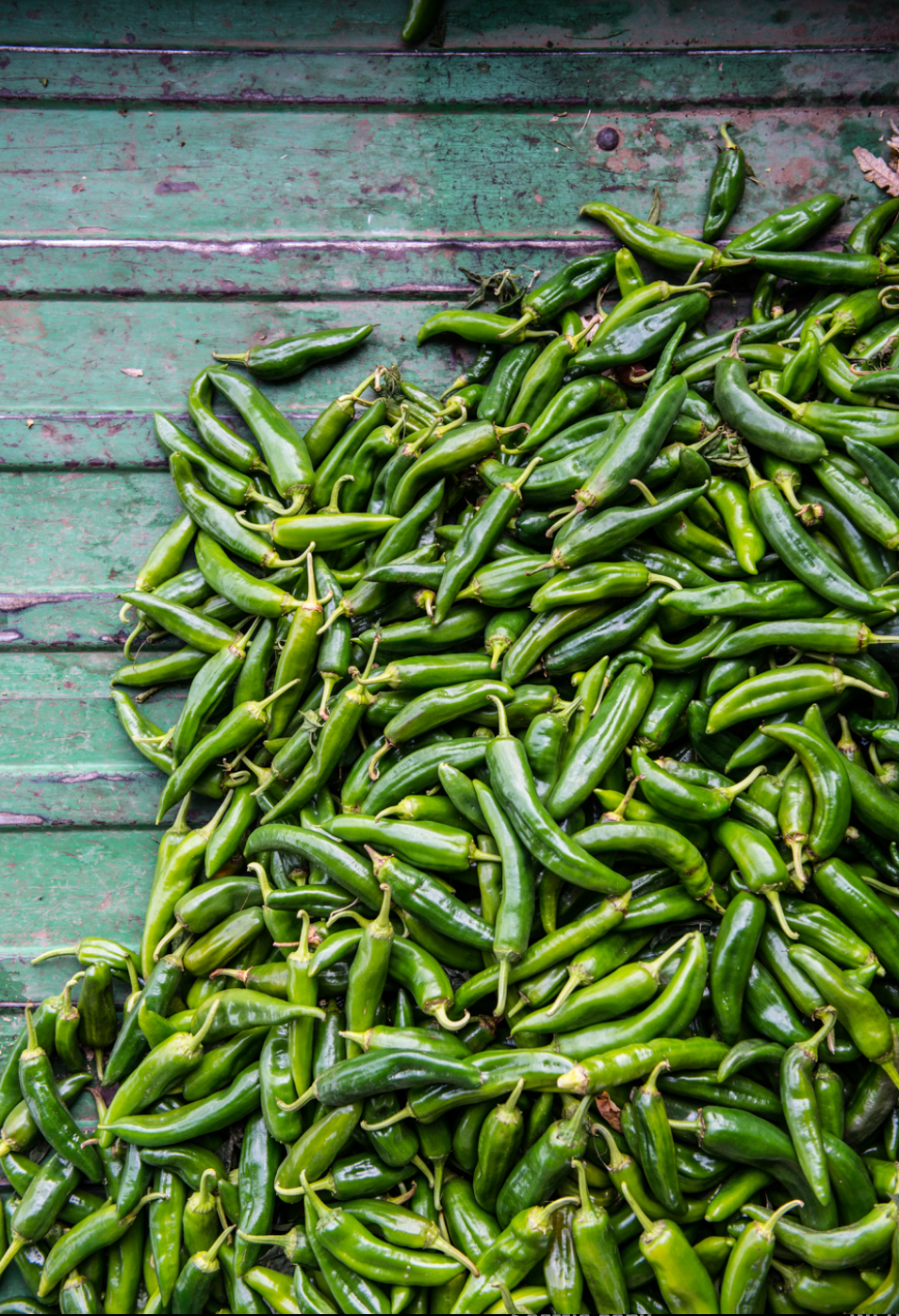 Little green chili peppers