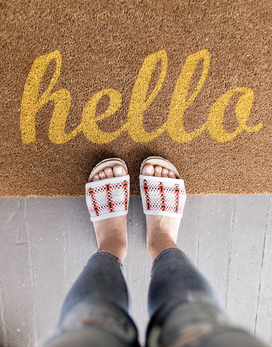 Hello welcome mat slides