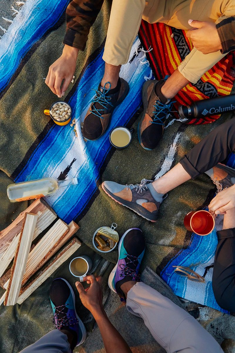 Wardrobe Stylist Camping Gear Photoshoot