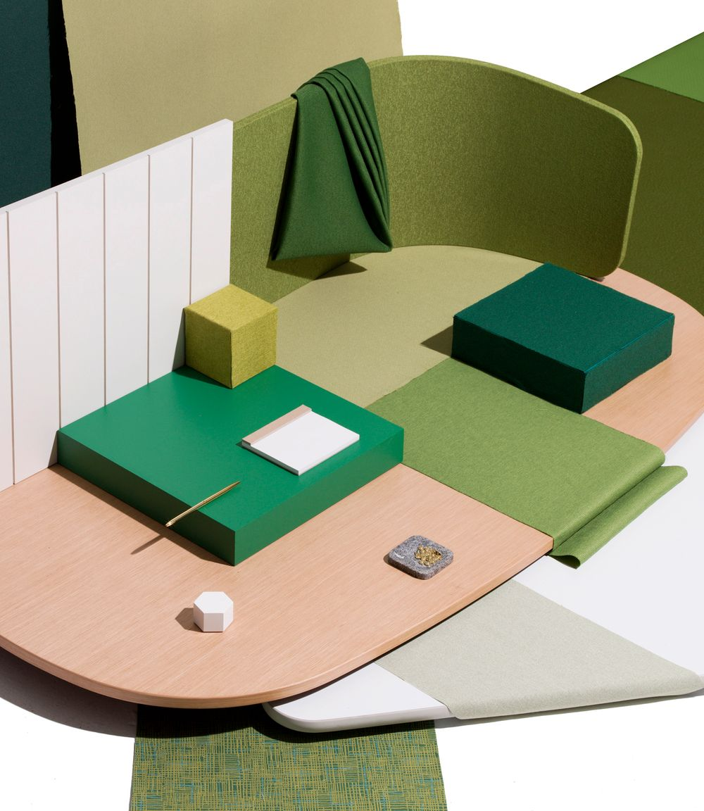 Greens and white interior