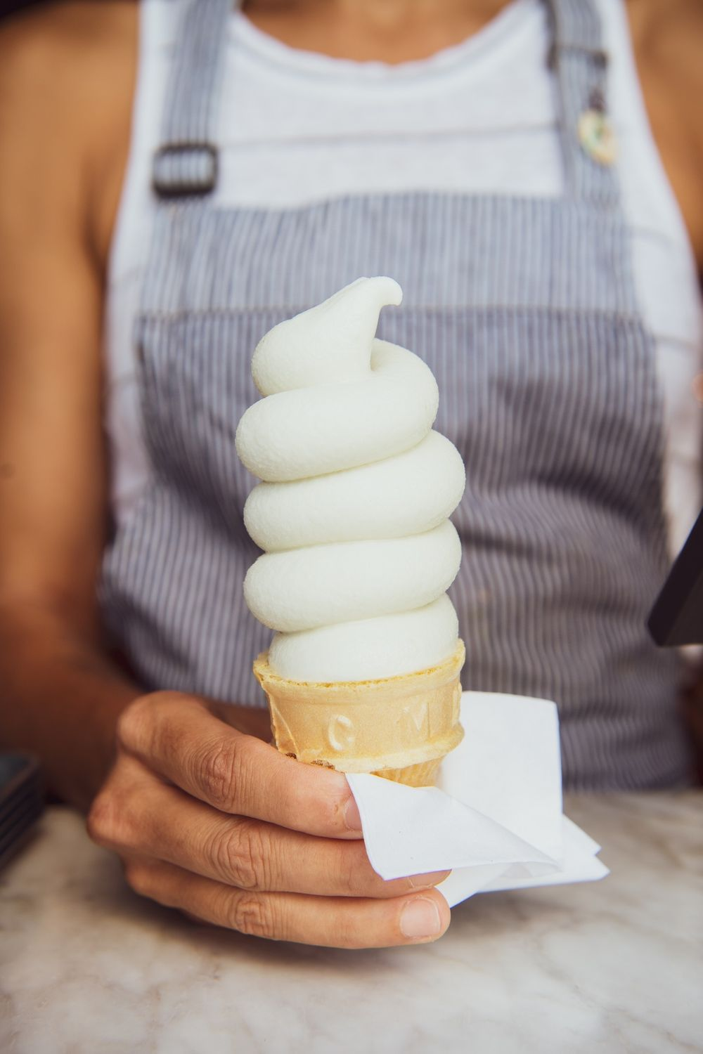Soft Serve Ice Cream in a Cone