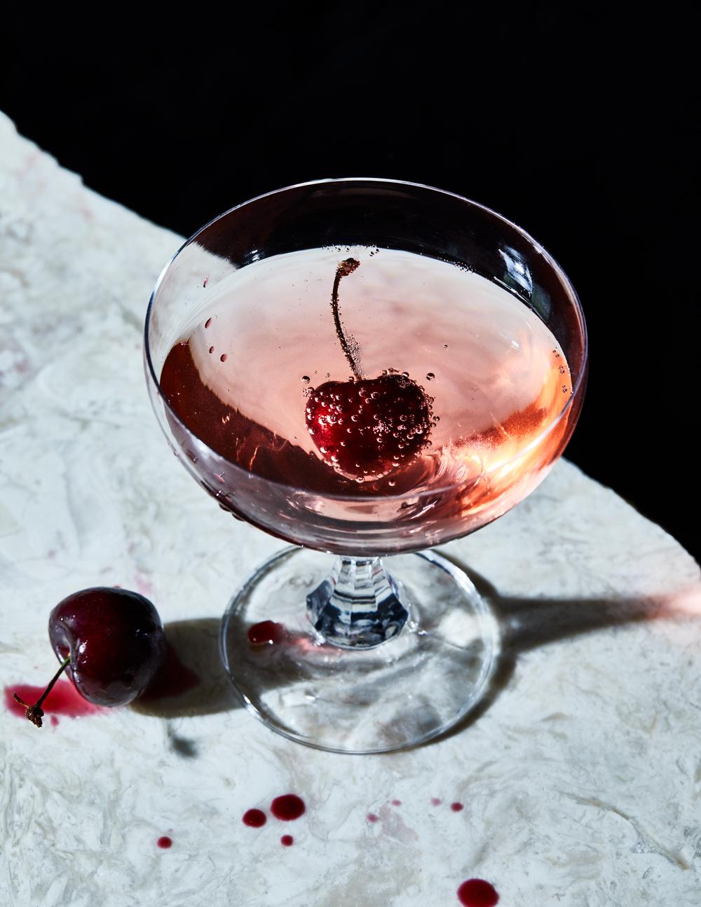 Gorgeous beverage image cherry bombe