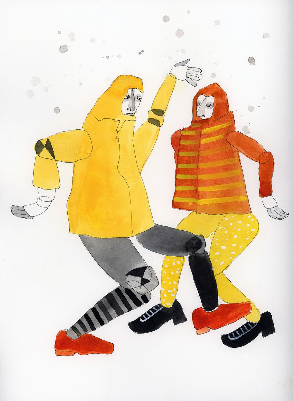 Two characters dancing