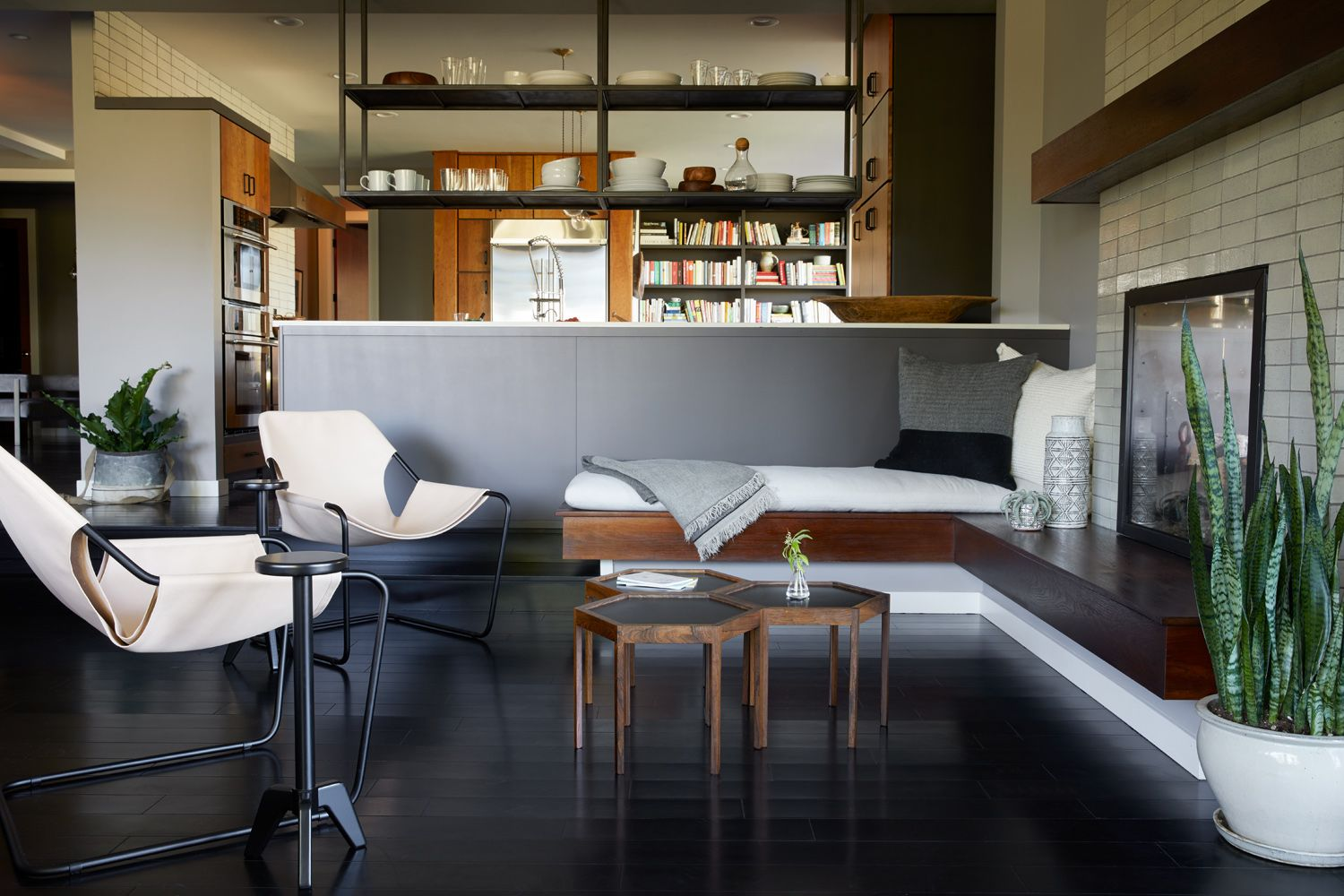 Modern living room, modern architecture, modern chairs, coffee table, interior design