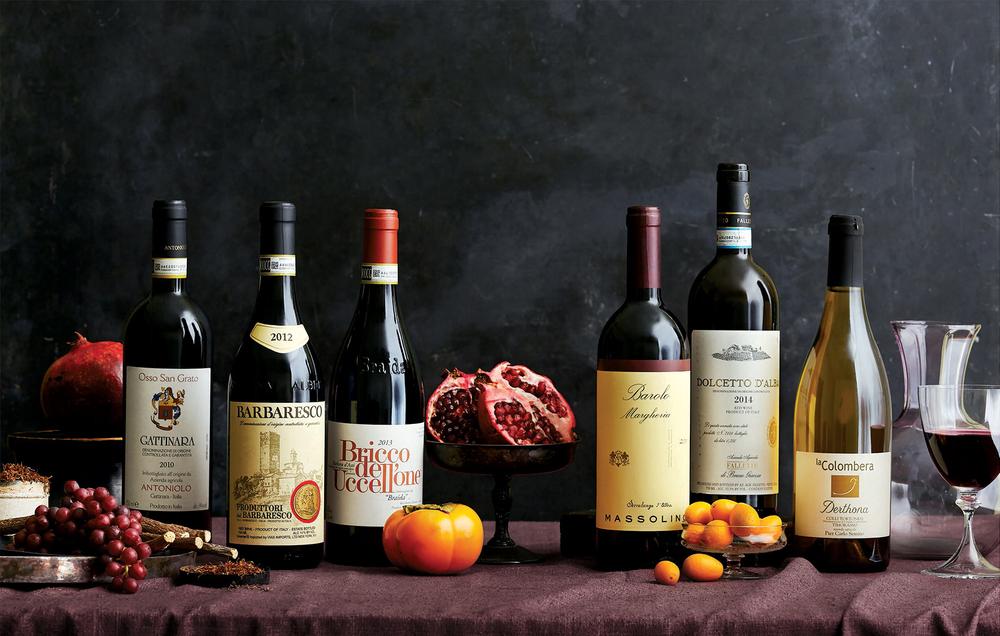 Wine spectator magazine bottles table fruit