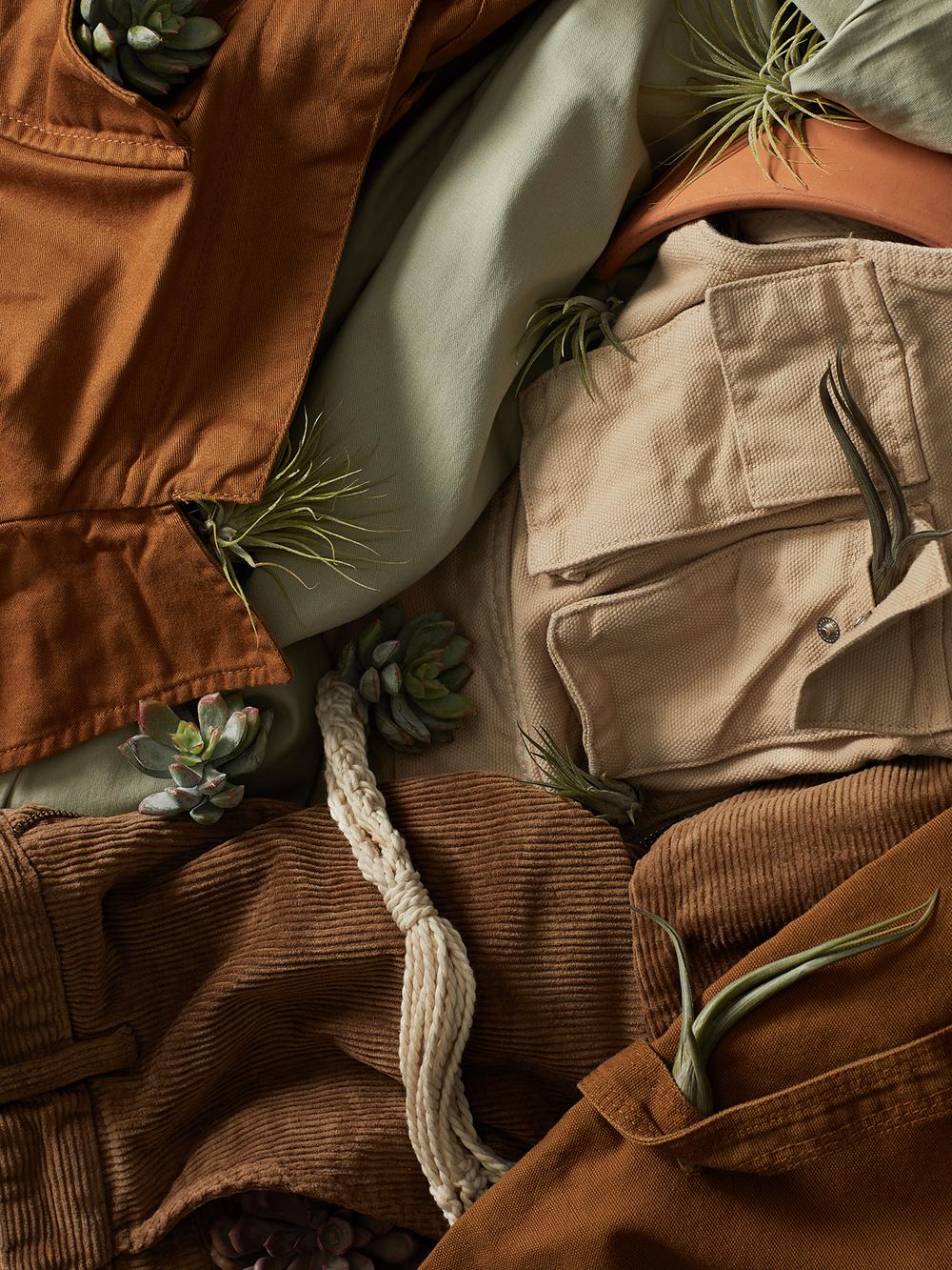 Khaki and cords mens wardrobe photo stylist