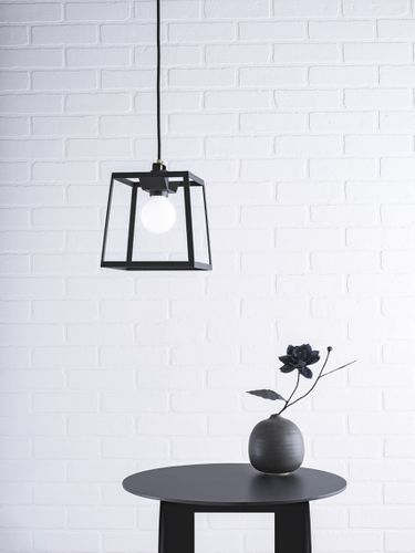 Black fixture and interior design