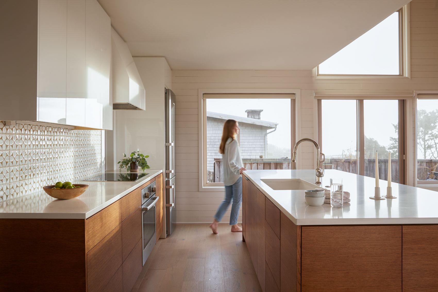Modern Kitchen with Girl