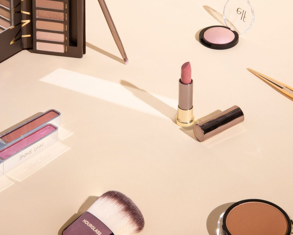 Nude cosmetics product styling