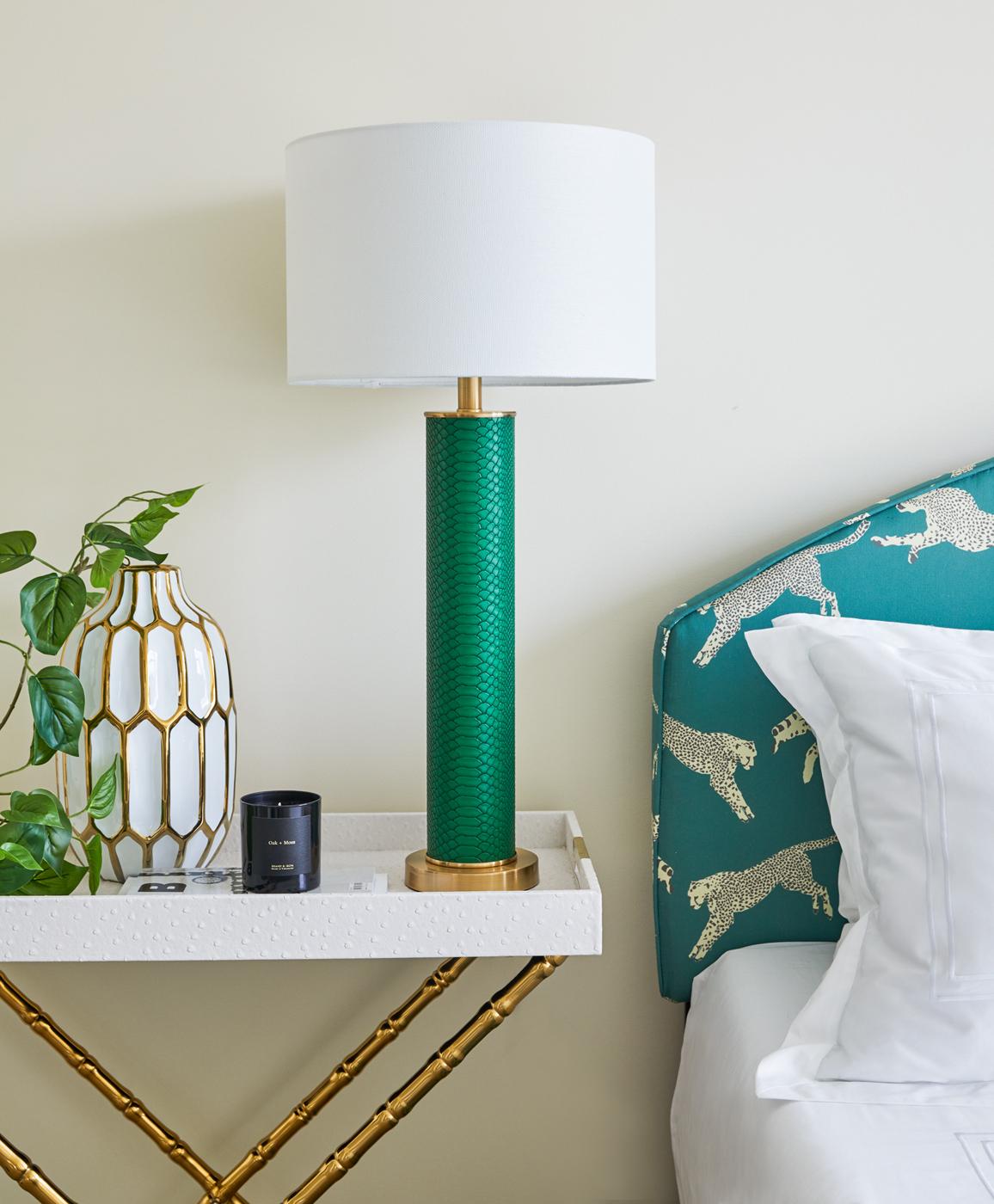 Green Bedside Lamp