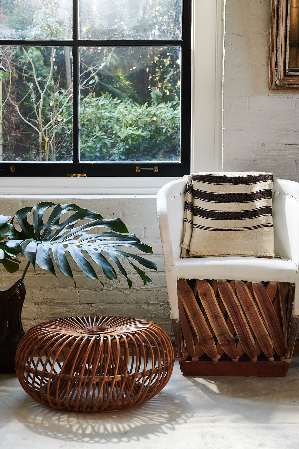rattan modern Mexican chair