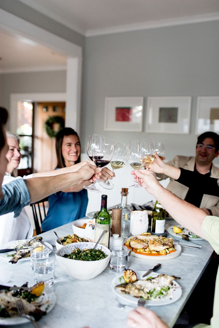 Dinner party cheers