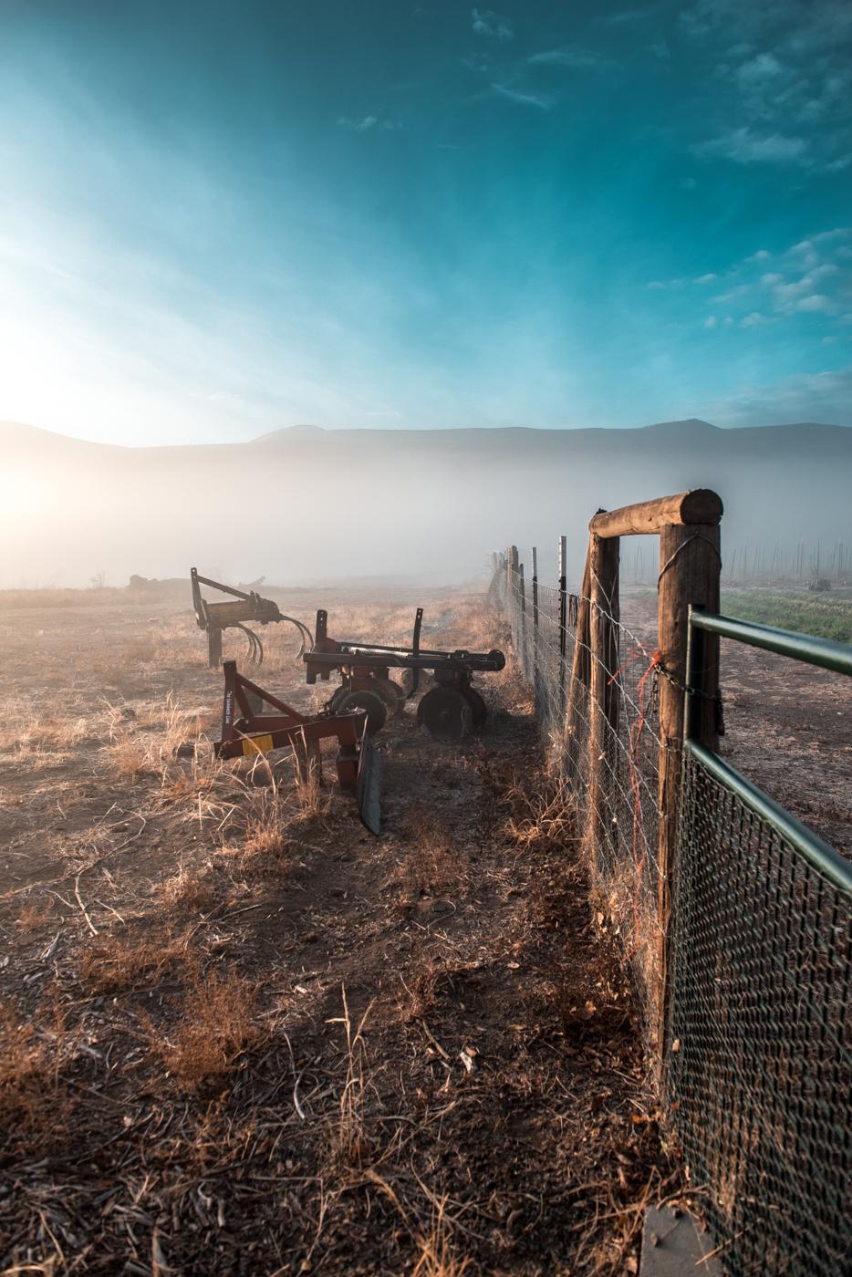 Dusty dirt on farm