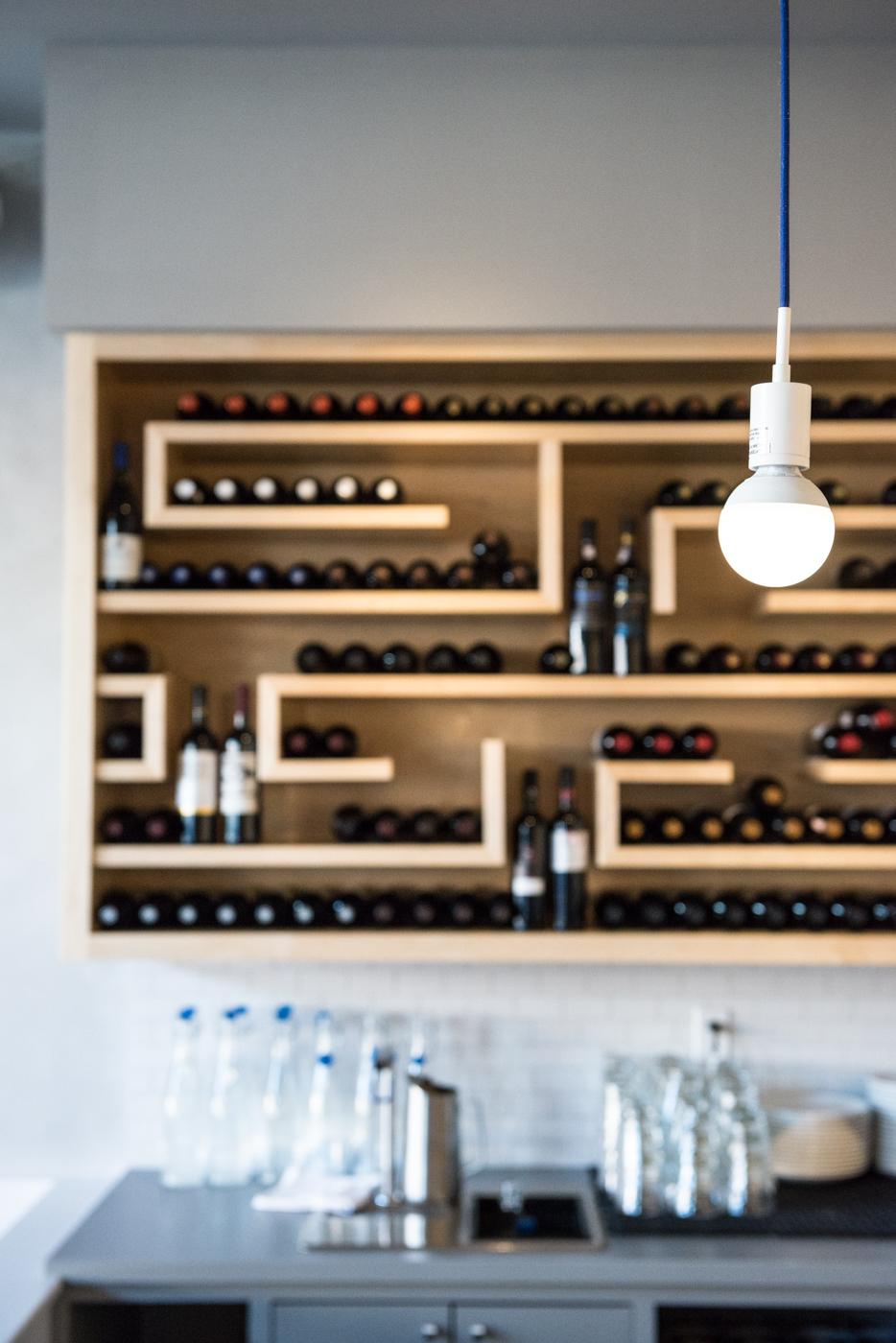 Wine bottle maze