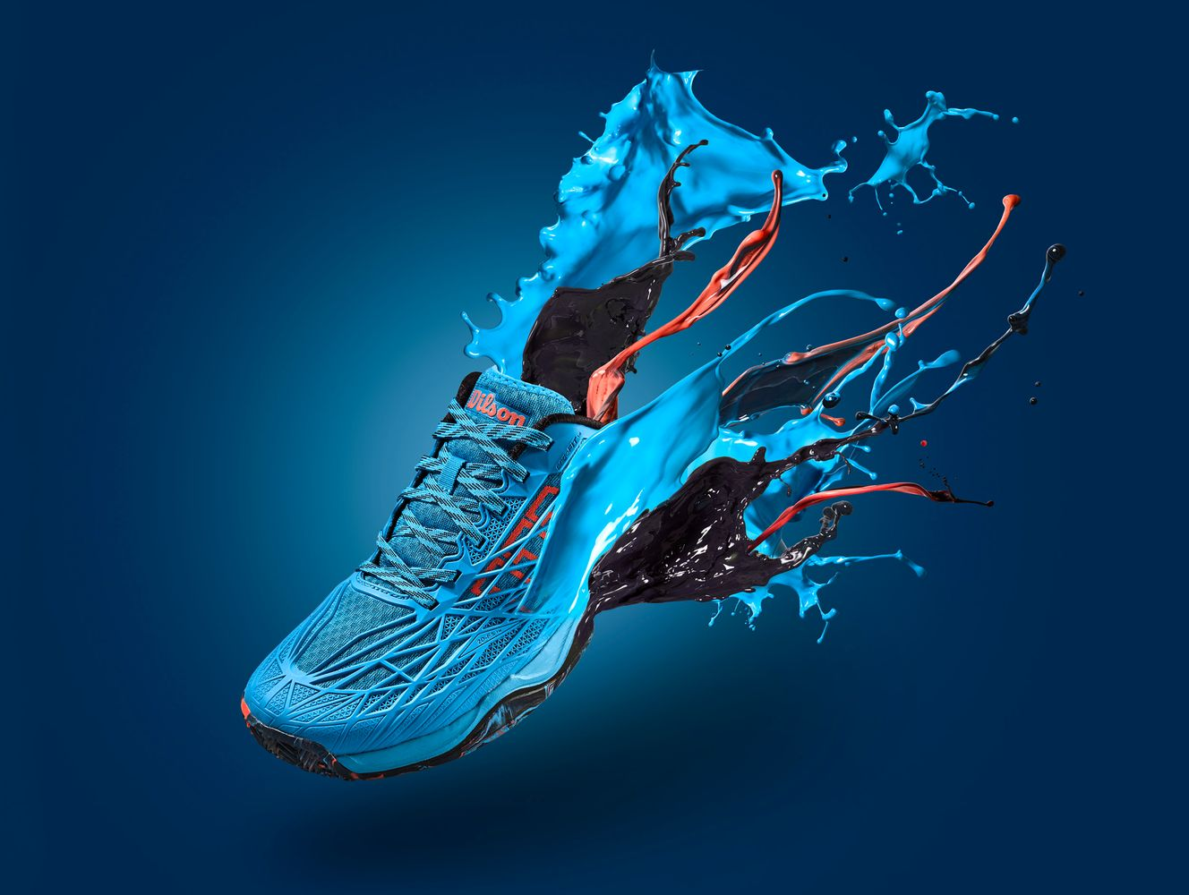 asics with paint