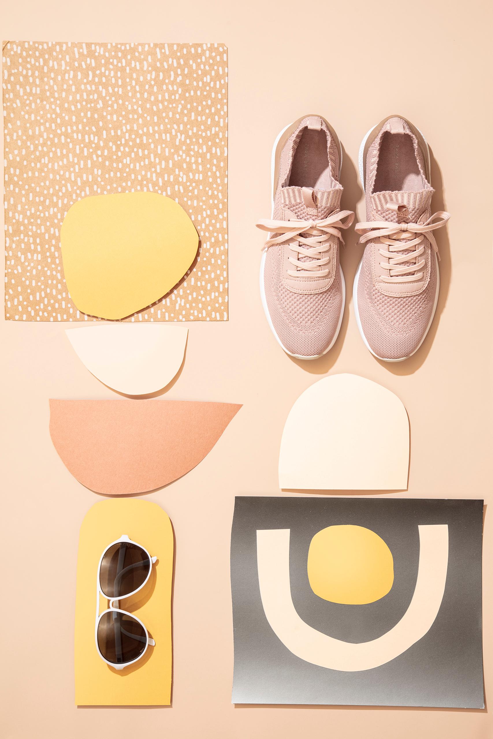 Geometric flat fashion  layout