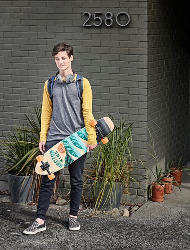 Lifestyle photography skateboard teen