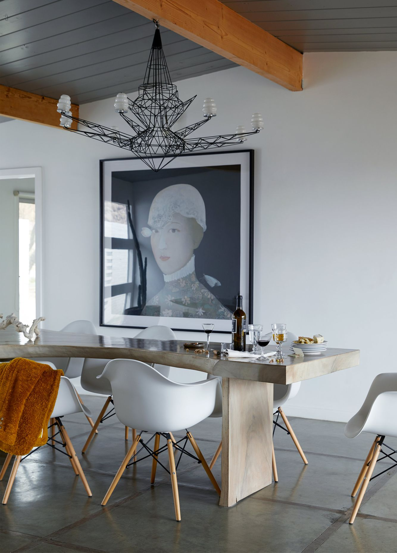 Modern dining table, grand portrait