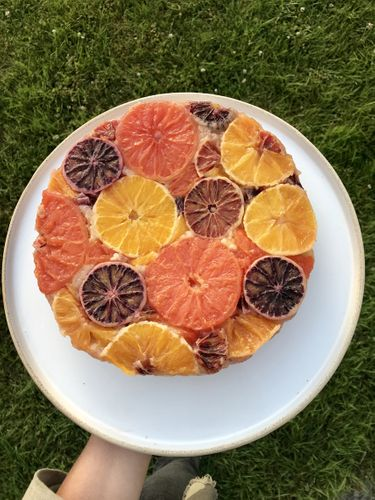 blood orange cake top