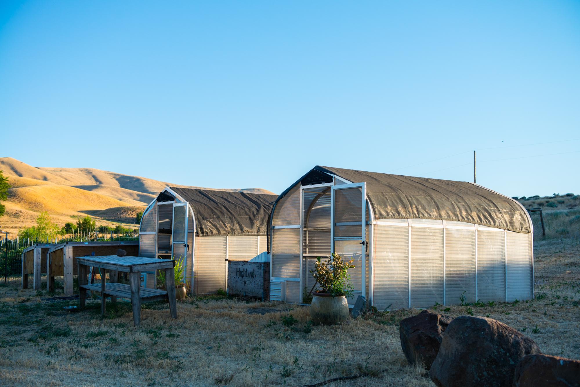 Two greenhouses farm