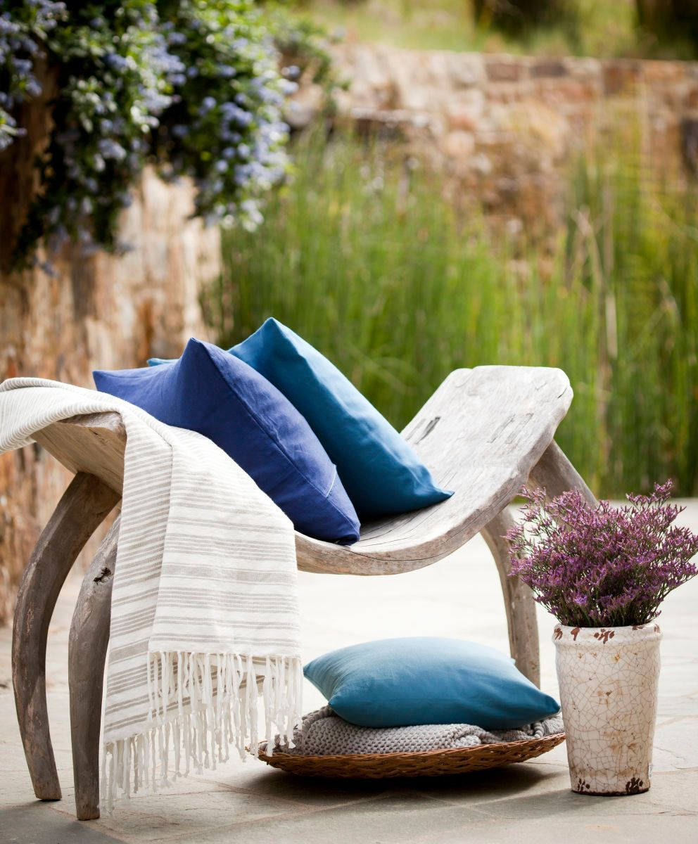 Outdoor Bench with Pillows