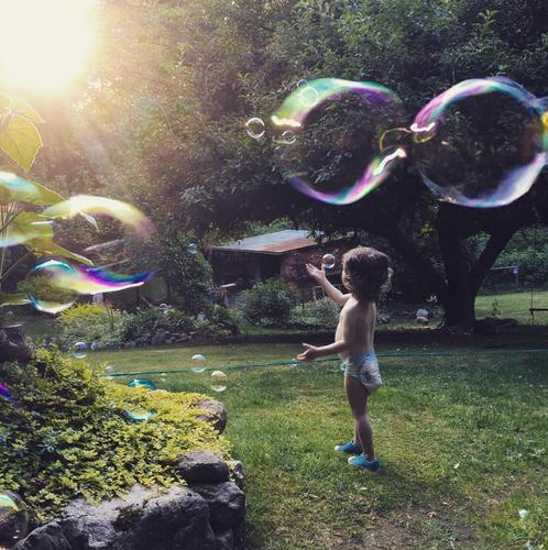 Bubbles in the Sun Photo