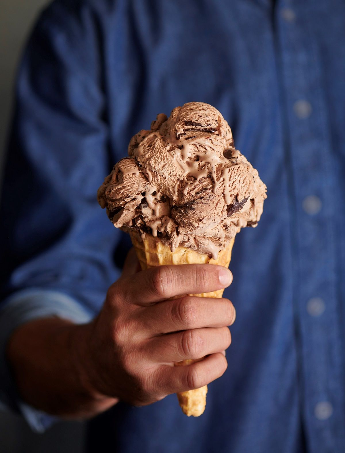 Chocolate Ice Cream Photograph