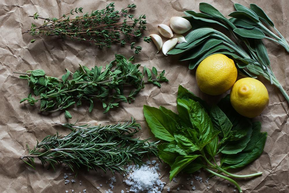 Herbs Styled by Rachel Grunig
