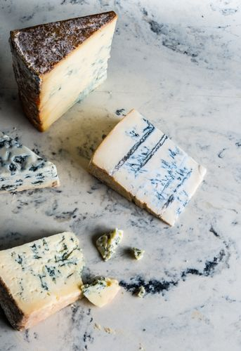 Blue cheese on marble