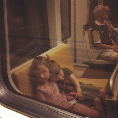 Sweet Subway Image with Children
