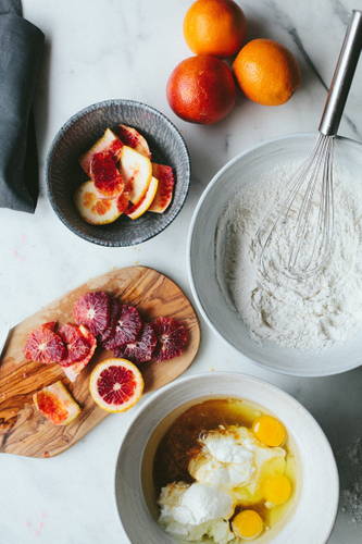 Blood Orange Beauty Cake Ingredients