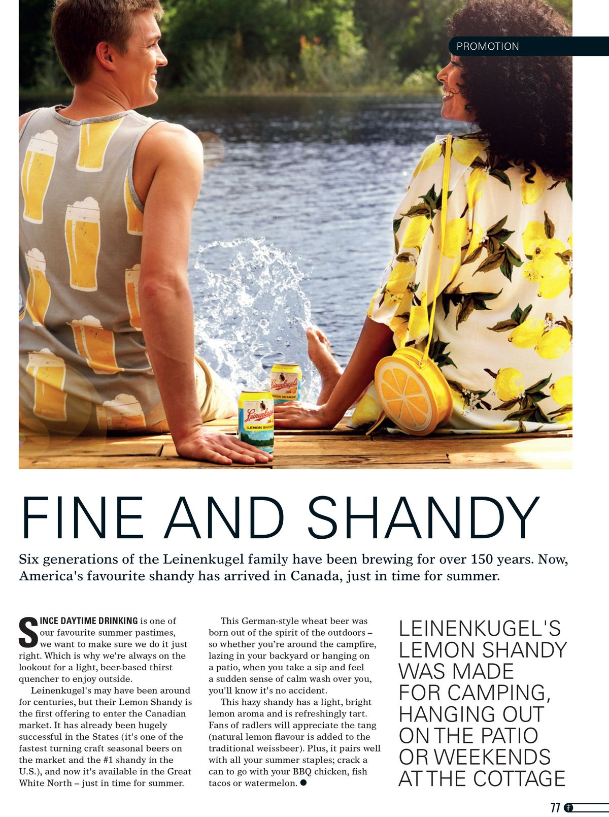 Leinenkugel's Summer Shandy print campaign: Photography by Chandler Williams