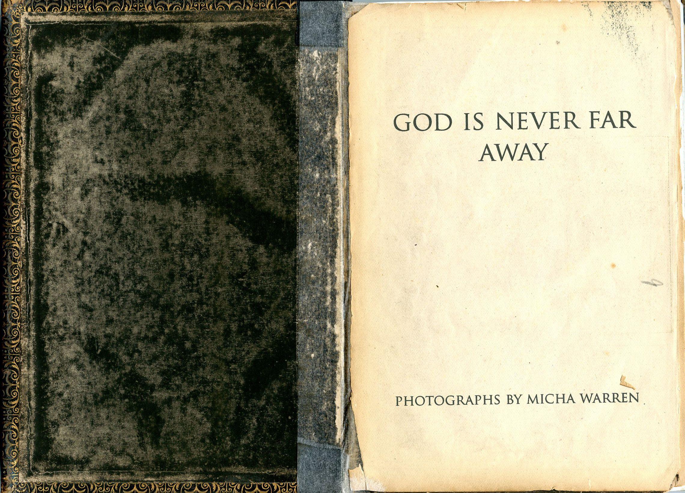 God Is Never Far Away/Bible/Artist Book
