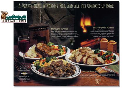 Bugaboo Creek Menu