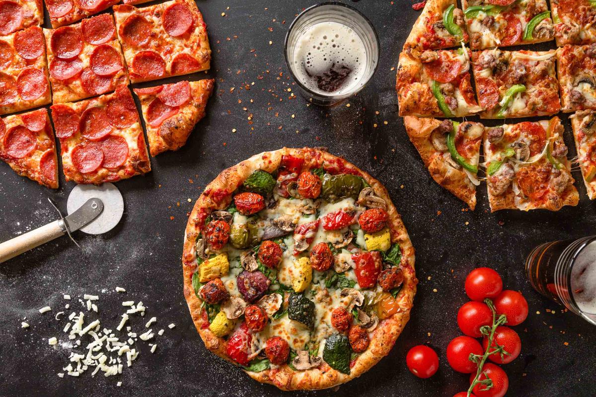 Thin crust pizza.