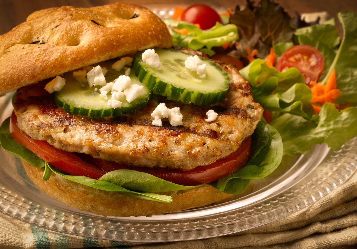 Grilled Sausage Sandwich.
