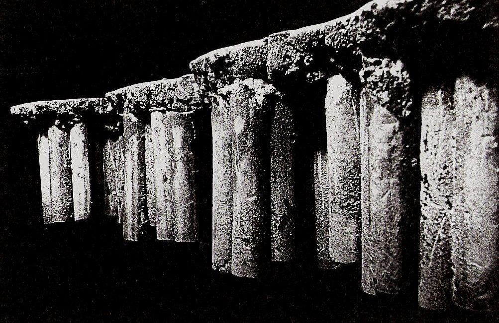 Perspective of Earth Cast Pillars